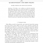 What's new on the ArXiv: Quasiconvexity and Dehn filling