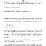 A deformation of instanton homology for webs